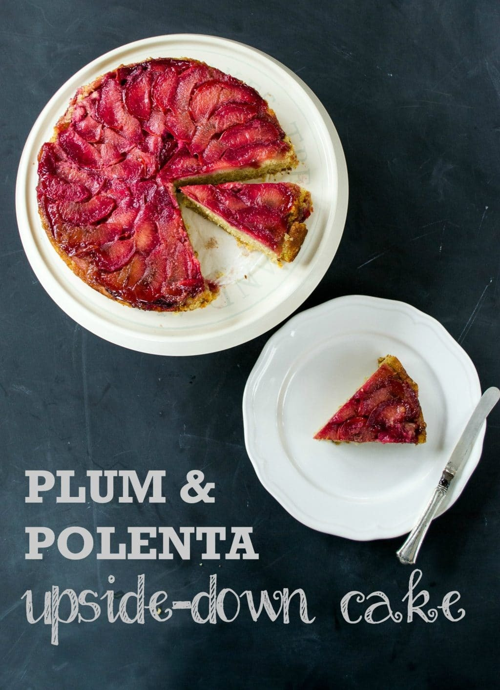 Recipe: Plum & Polenta Upside-Down Cake (Vegan)