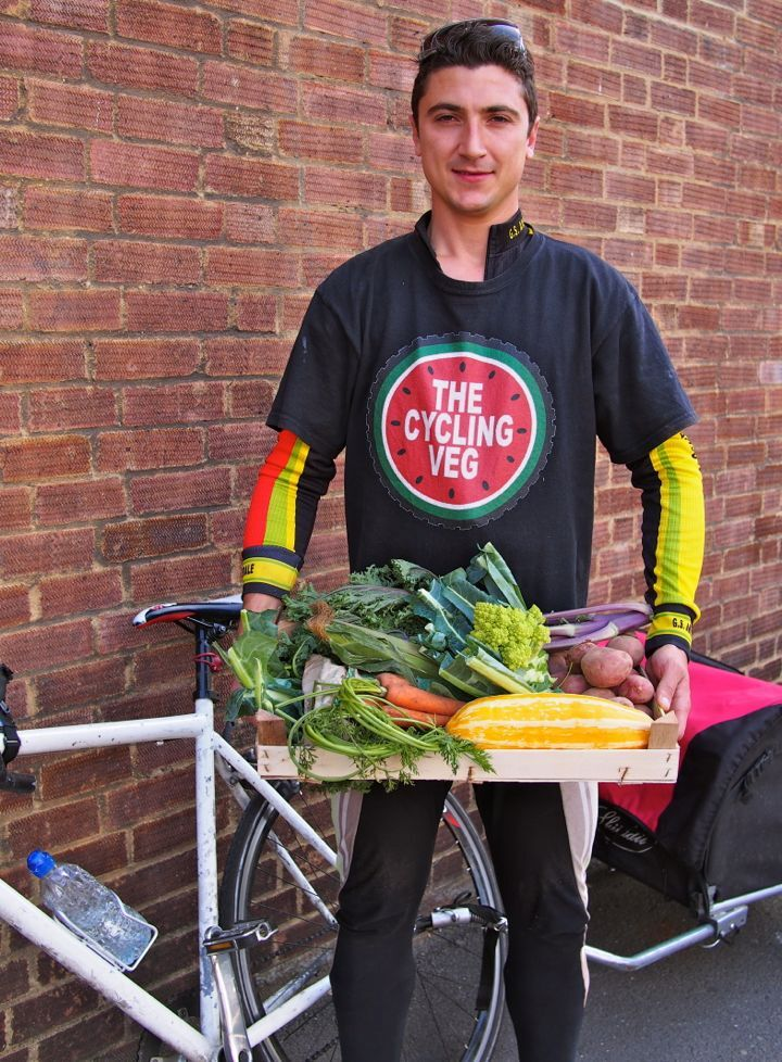 Farmbox Minestrone Soup with Kohlrabi: Made Using Vegetables from London's Cycling Veg