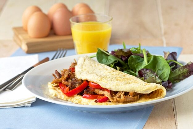 Pulled Pork Omelette For Those Hungry Mornings