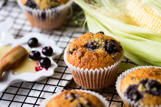 Blueberry Cornbread Muffins – A Traditional Thanksgiving Side As A Breakfast