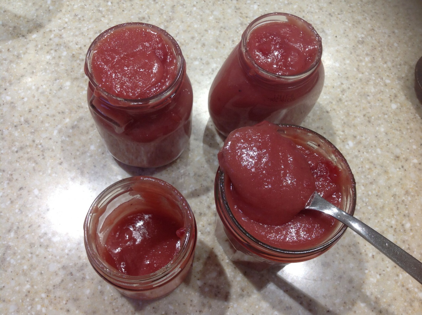 Cranberry Curd, £1.18 a jar, and lots and lots of other variations, including savoury ones