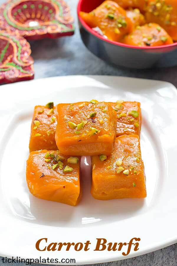 Carrot Burfi Recipe – Easy Diwali Recipes