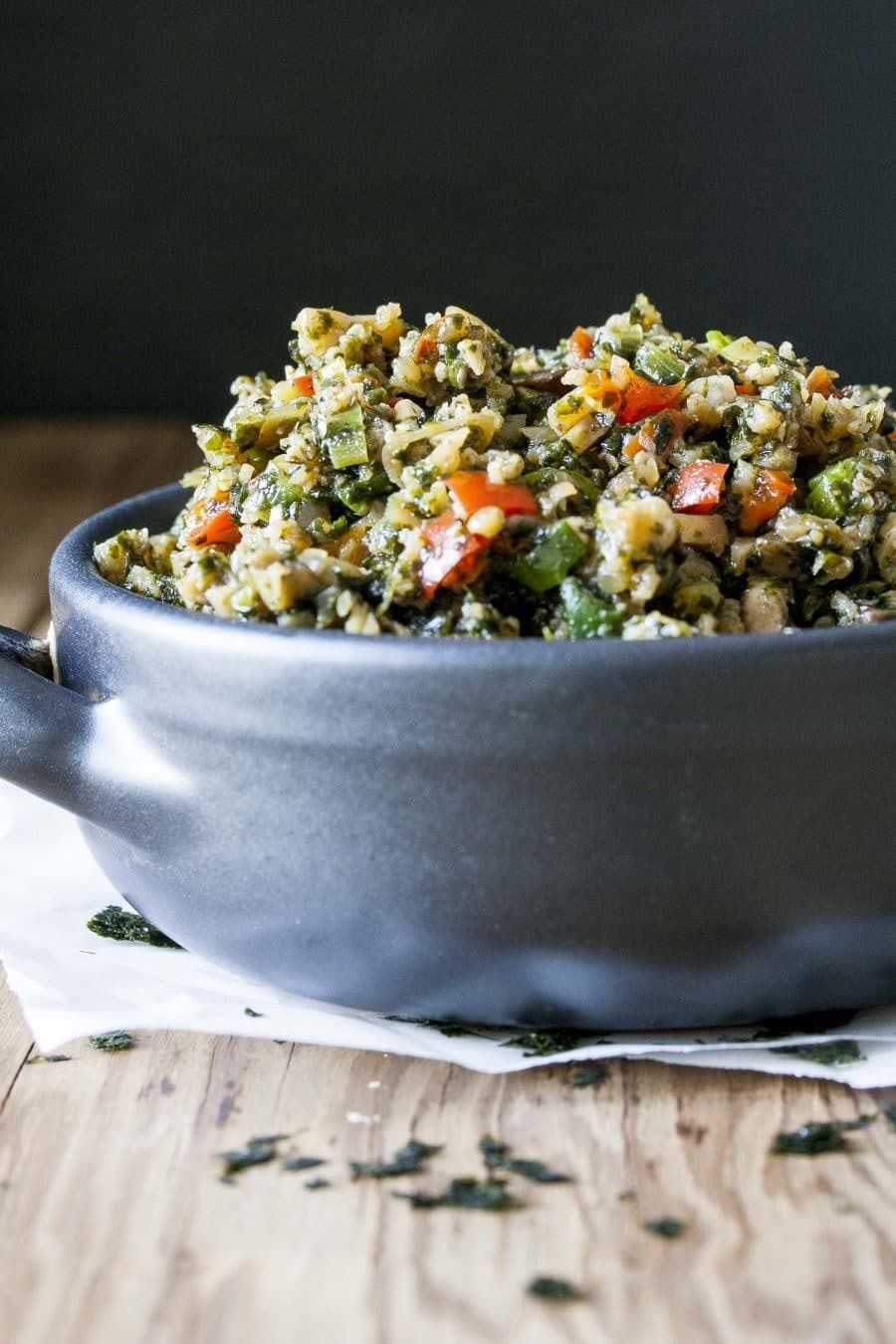 Low Carb Stir Fry Cauliflower Rice (vegan, gluten free)