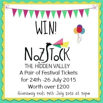 WIN Tickets to Nozstock: The Hidden Valley Festival 24th to 26th July 2015