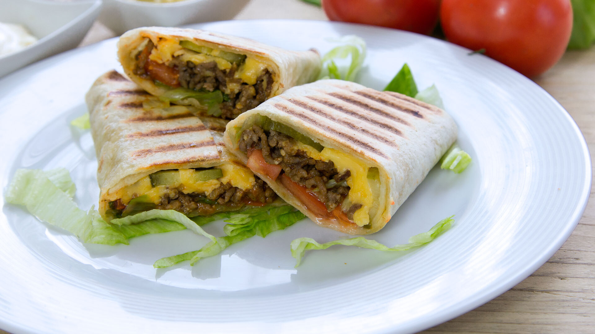Wrap Cheeseburger
