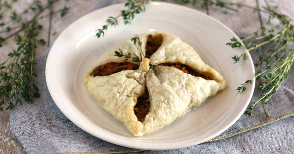 Lentil Puff Pastry Pockets for the Holidays
