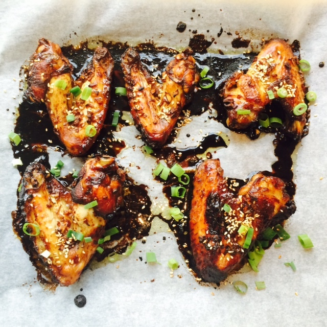 Sticky chicken wings uit de oven