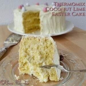 Sugar-Free Thermomix Coconut Lime Easter Cake with Natvia