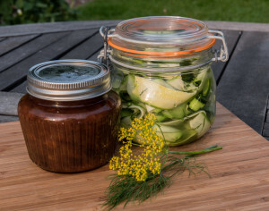 MARINATED COURGETTE WITH DILL