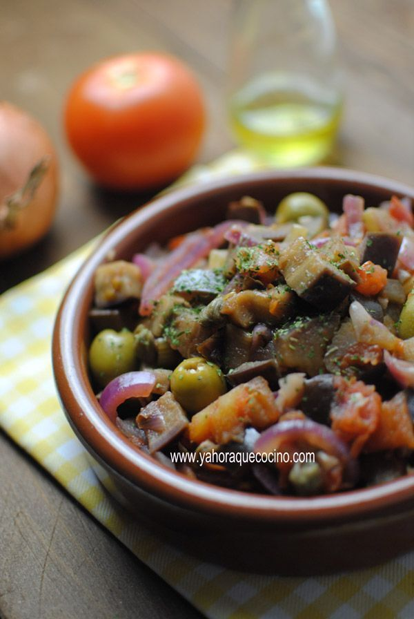 Caponata Sicilian or Estofado of Berenjenas