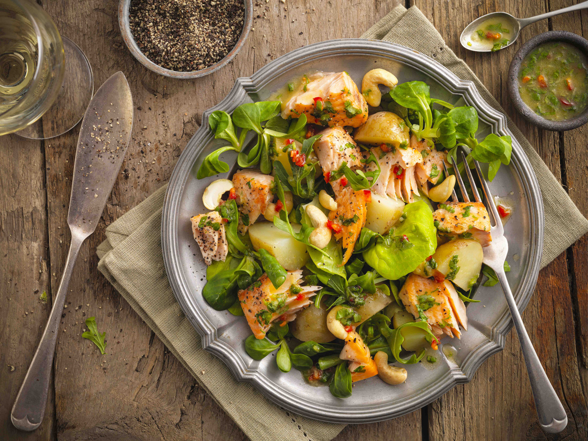 Get Your Kicks This Summer Season With Our Zesty Salmon Salad