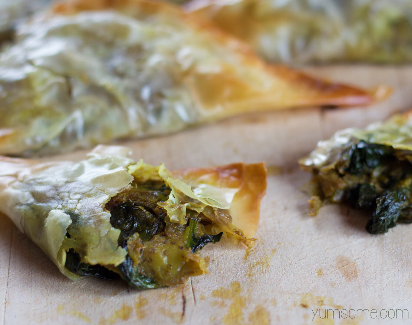 Easy Baked Vegan Filo Samosas… and a joyous announcement!