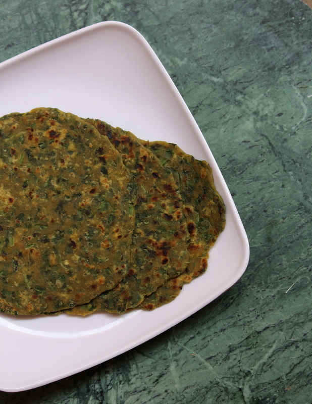 Palak Roti Recipe, How To Make Palak Roti | Spinach Roti