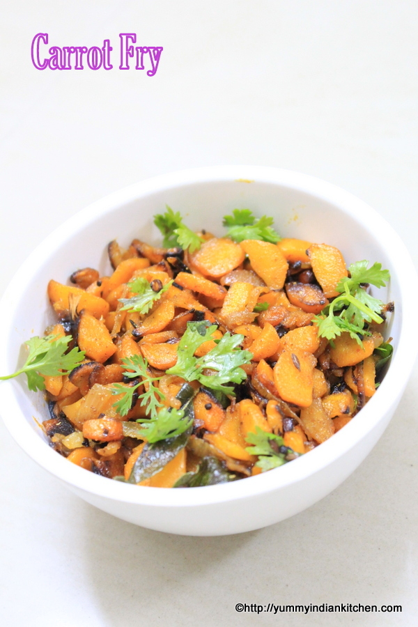 Carrot Fry Recipe Without Coconut Andhra Style For Chapati
