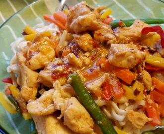 kyckling wokgrönsaker