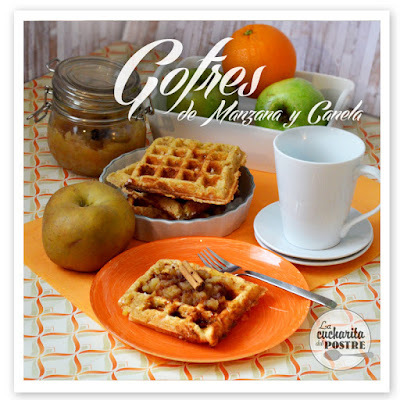 GOFRES DE MANZANA Y CANELA / CINNAMON AND APPLE WAFFLES