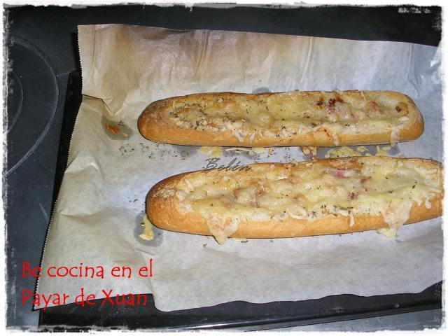 Barritas de pan con queso y beicon