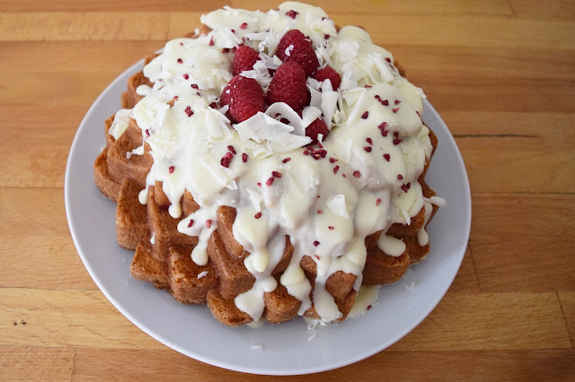 White Chocolate and Raspberry Bundt