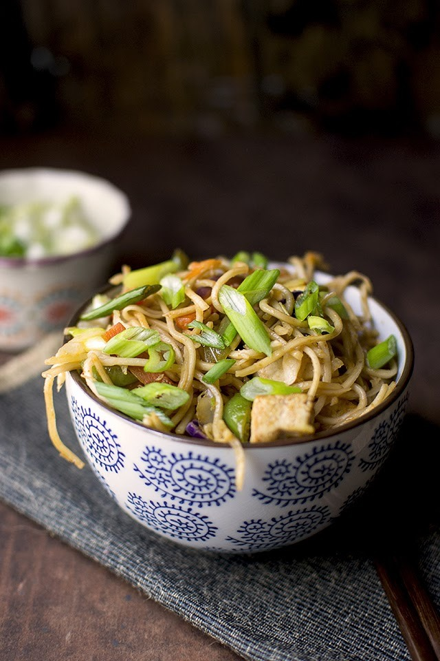 Hakka Noodles (Indo-Chinese Noodles with Vegetables)