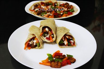 SWEET AND SPICY CHICKEN WRAP RECIPE - EASY DINNER IDEAS