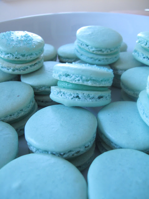 Baby Blue Macarons