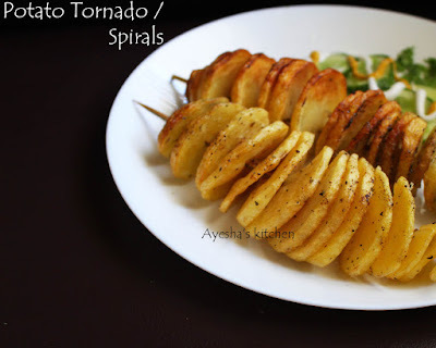 POTATO SPIRALS RECIPE - HOW TO MAKE TORNADO FRIES AT HOME / KIDS SPECIAL