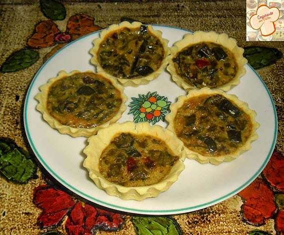 Mini quiches de berinjela