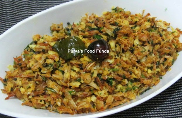 Raw/Young Jackfruit Stirfry ~ Phanasachi Bhaji