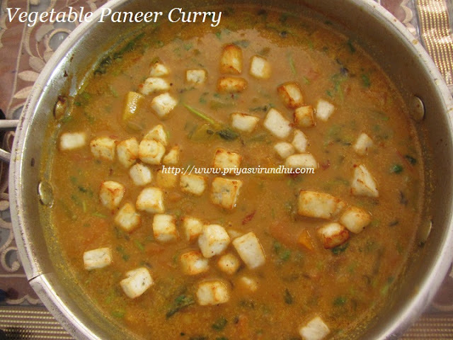 Mixed Vegetable Paneer Curry/Paneer and Mixed Vegetable Curry