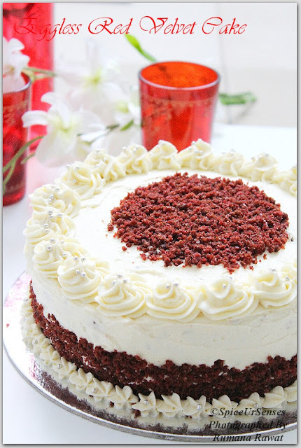 Eggless Red Velvet Cake!!