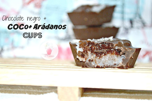 "Receta Facil: ""Chocolate, Coco, Arándanos Cups"""