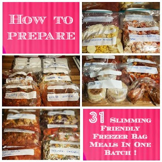 How to Prepare 31 Slimming World Friendly Freezer Meals in One Batch