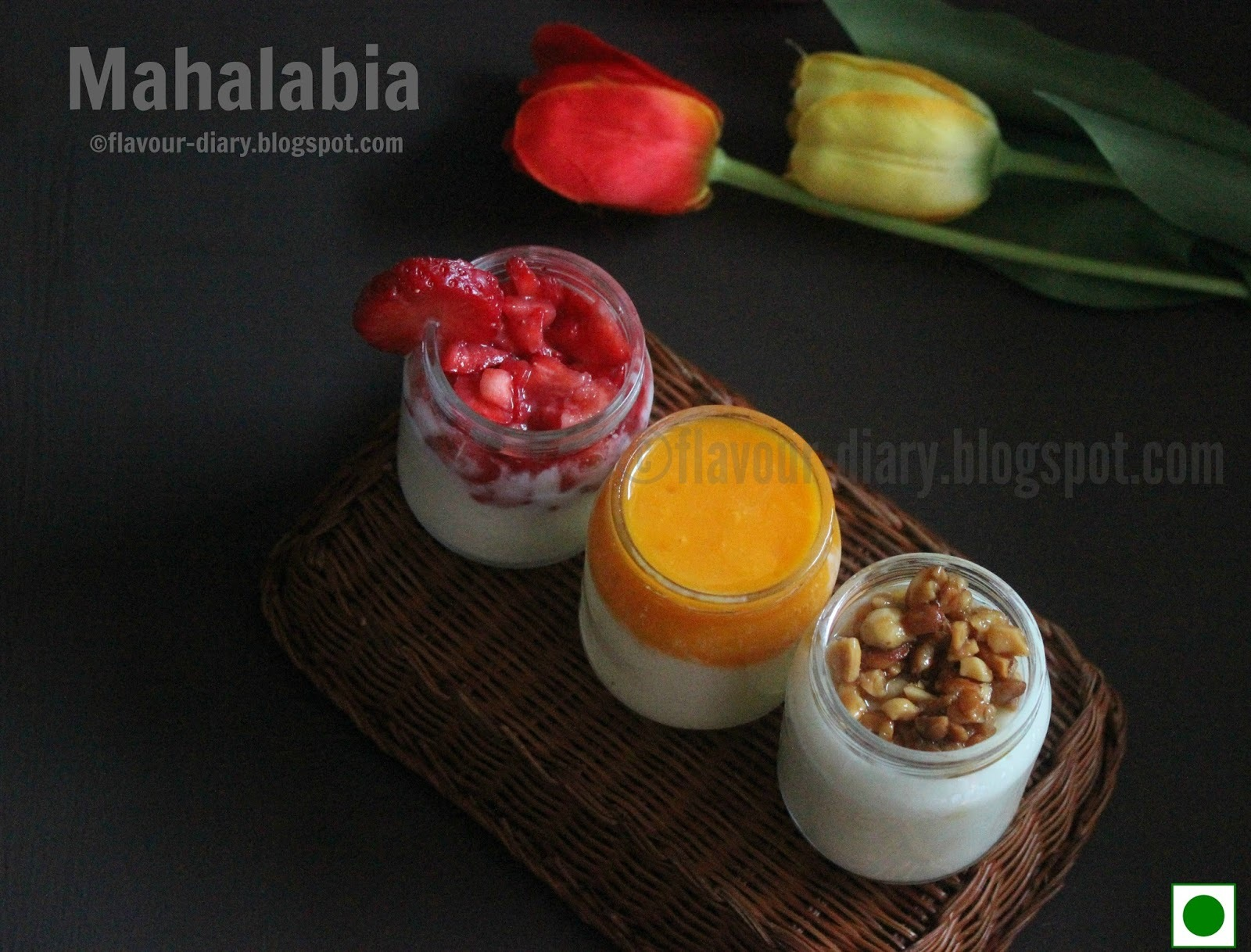 Mahalabia /Muhallabieh - Middle Eastern Milk Pudding | 3 toppings | Flavour Diary