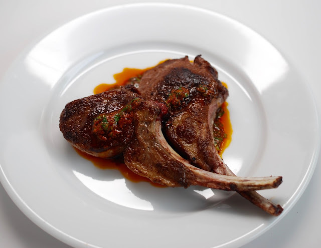Moroccan-Spiced Lamb Chops with Charmoula