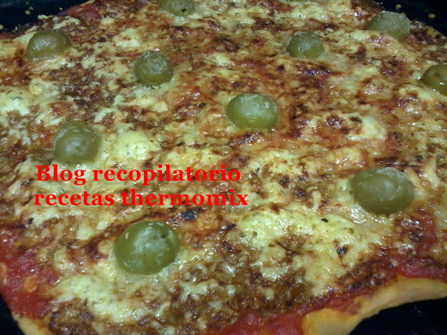 Pizza italiana con atún thermomix