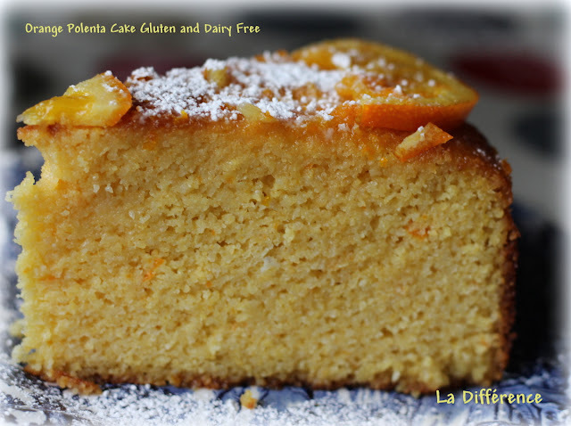 Orange Polenta Cake Gluten and Dairy Free