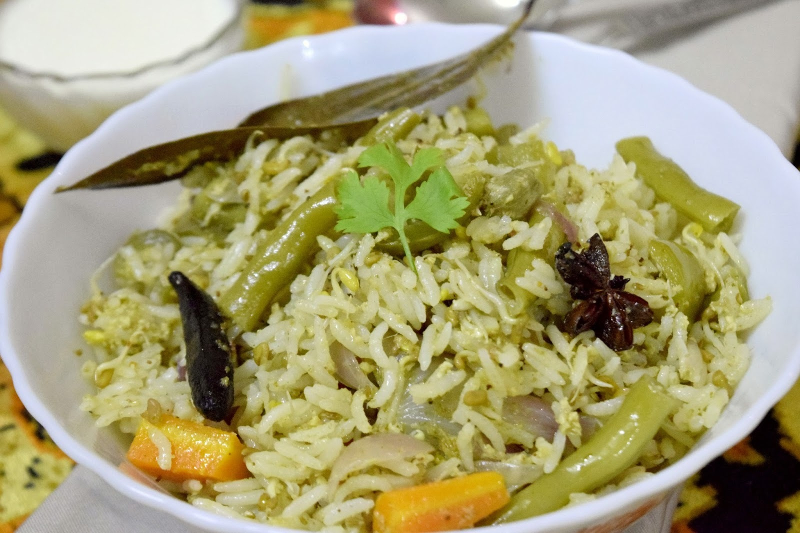 Sprouted Fenugreek Pulao ~~South Indian recipes