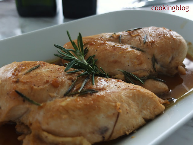 Frango de fricassé com alecrim e limão | Fricasséed chicken with rosemary and lemon