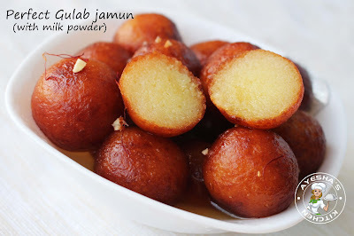 PERFECT MILK POWDER GULAB JAMUN  - EGGLESS DESSERTS RECIPES