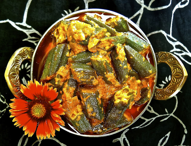 Dahi Bhindi (Curried Okra with Yogurt)