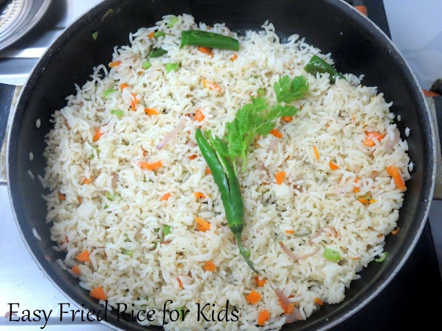 Quick Fried Rice Recipe | Easy Fried Rice for Kids Lunch Box