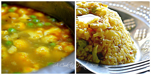 Comfort food and one pot meal: Moogachi khichadi ( different version)