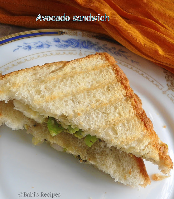 Avocado Sandwich | Easy Breakfast Recipe | Avocado - Vegetable Sandwich