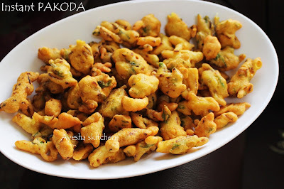 INSTANT SNACK RECIPE - SIMPLE PAKODA IN 15 MINUTES