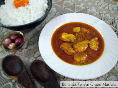 Boneless Fish in Onion Masala