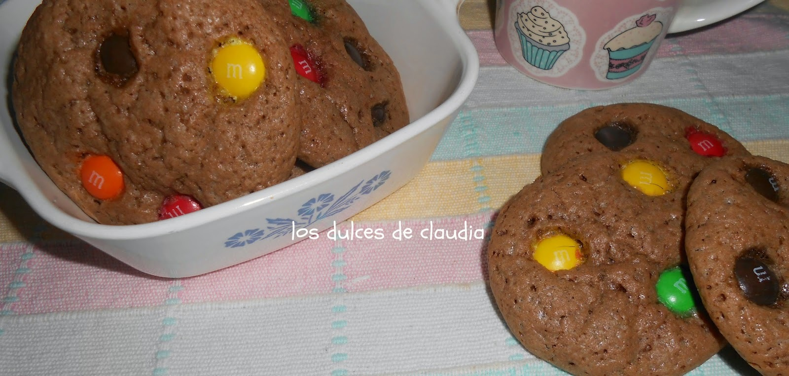 Galletas de chocolate con M&M'S