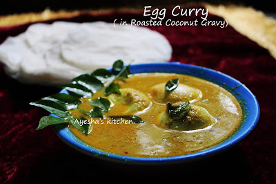 EGG IN ROASTED COCONUT GRAVY  - EGG RECIPES / EGG GRAVY