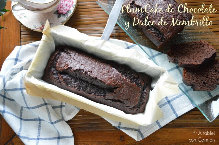 Plumcake de Chocolate y Dulce de Membrillo