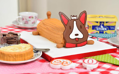 Candy the Corgi : A Cake fit for a Queen or at least her birthday !