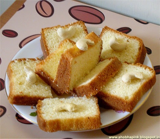 Egg Less Vanilla Cake